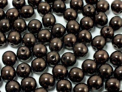 Round Beads Luster - Metallic Bronze Violet 6 mm - 20 sztuk