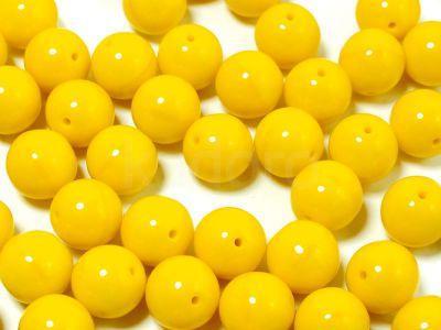 Round Beads Opaque Lemon 8 mm - 10 sztuk