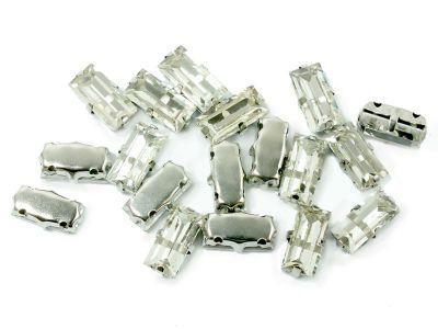 Montees kryształowe prostokąt 10x5 mm - 1 sztuka