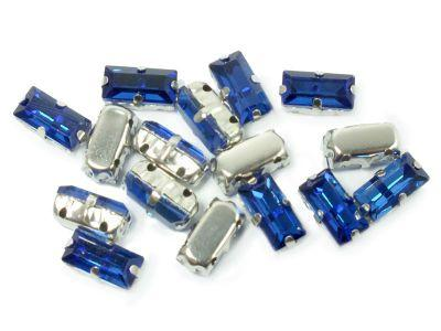 Montees kobaltowe prostokąt 10x5 mm - 1 sztuka