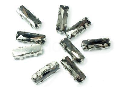 Montees szare prostokąt 15x5 mm - 1 sztuka