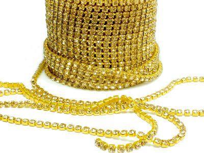 Taśma cyrkoniowa złota 2 mm - 20 cm