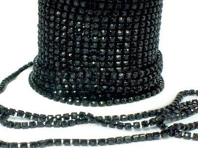 Taśma cyrkoniowa czarna 2 mm - 20 cm