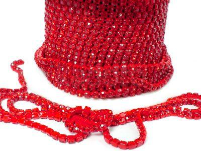 Taśma cyrkoniowa czerwona 2 mm - 20 cm