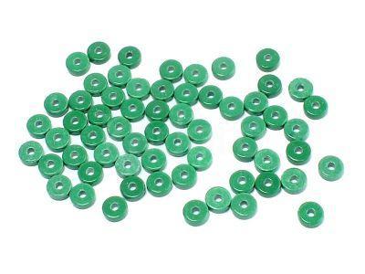 Agat heishi 4x1 mm zielone - 4 sztuki