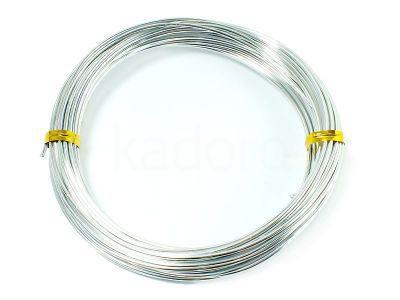 Drut jubilerski aluminiowy 1.5 mm srebrny - 10 m