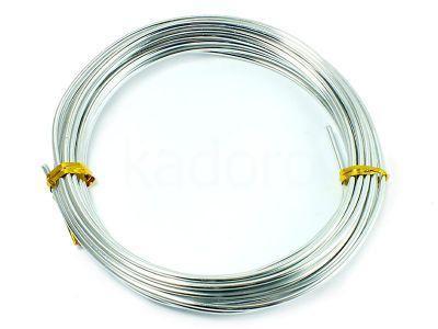 Drut jubilerski aluminiowy 2 mm srebrny - 5 m