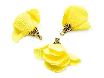 Kwiatek żółty 25 mm - 1 sztuka