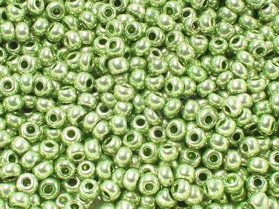 PRECIOSA Rocaille 6o-Metallic Medium Green - 50 g