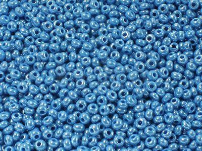 PRECIOSA Rocaille 8o-Opaque-Lustered Dk Blue Turquoise - 50 g