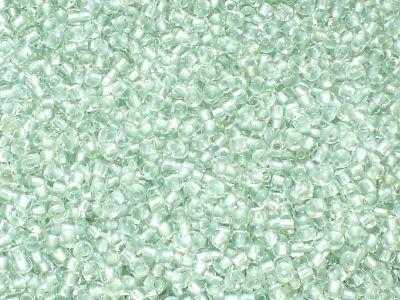 PRECIOSA Rocaille 9o-Pale Mint-Lined Crystal - 50 g