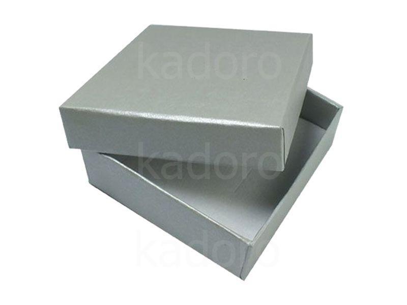 Ozdobne pudełko na biżuterię duże srebrne perłowe