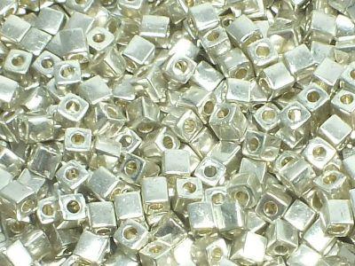 Miyuki Square 3mm-1051 Galvanized Silver - 10 g