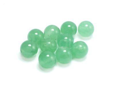 Jadeit awenturynowy kula 10 mm - 2 sztuki