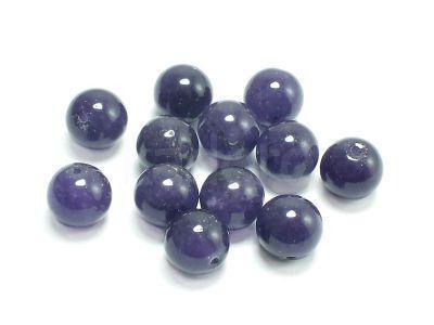 Jadeit fioletowy kula 10 mm - 2 sztuki
