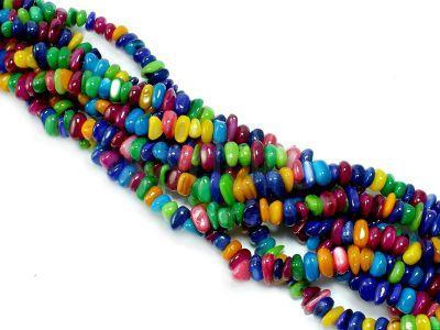 Masa perłowa barwiona sieczka 5-10 mm - sznur 38 cm