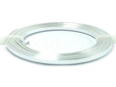 Drut jubilerski aluminiowy płaski 5x1 mm srebrny - 2 m