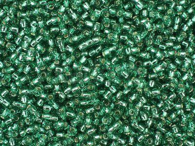 TOHO Round 11o-24B Silver-Lined Dark Peridot - 100 g