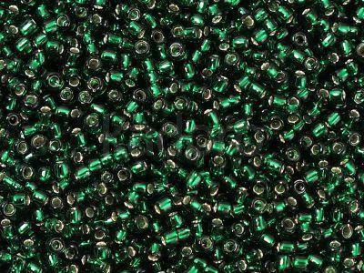 TOHO Round 11o-36 Silver-Lined Green Emerald - 100 g