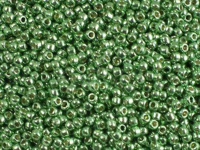 TOHO Round 11o-PF587 Permanent Finish - Galvanized Green Apple - 100 g