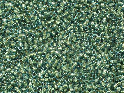 TOHO Treasure 12o-284 Inside-Color Aqua - Gold Lined - 5 g