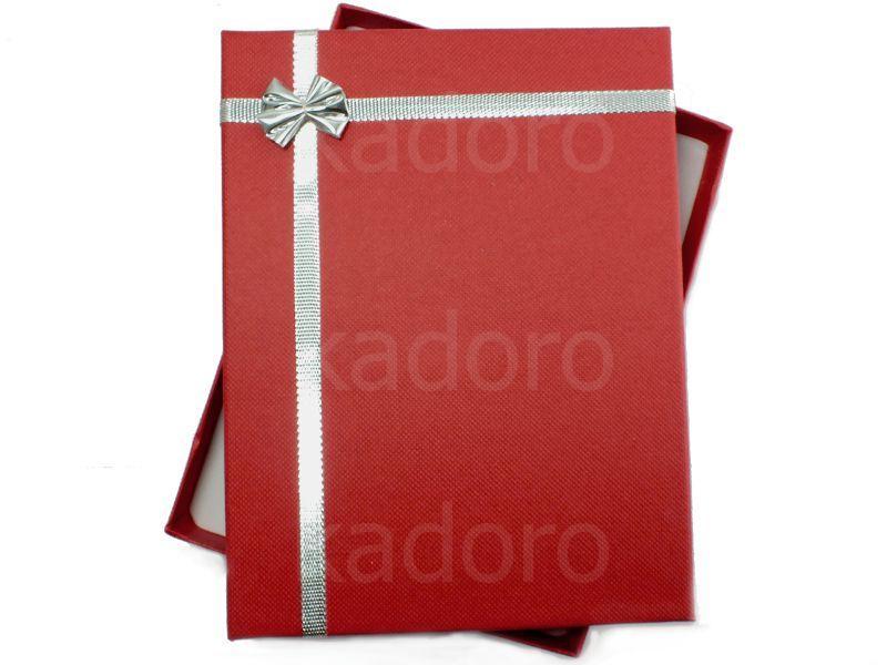 Pudełko z kokardką na komplet czerwone