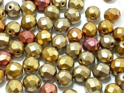 FP 8mm Matte Metallic Iris Gold - 10 sztuk