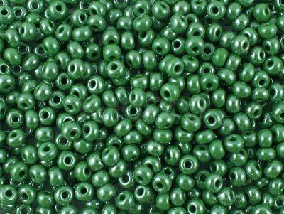 PRECIOSA Rocaille 6o-Opaque-Lustered Green - 50 g