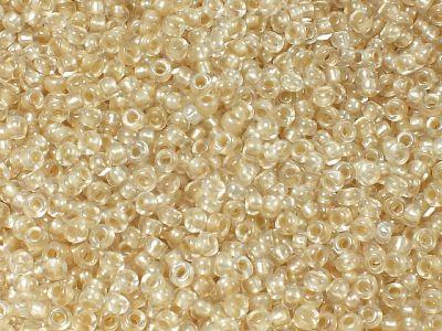 PRECIOSA Rocaille 8o-Mocca Pearl Pastel-Lined Crystal - 50 g