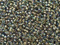 TOHO Round 11o-999 Gold-Lined Rainbow Black Diamond - 10 g