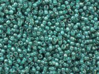 TOHO Round 11o-1833 Inside-Color Rainbow Lt Sapphire - Opaque Teal Lined - 10 g