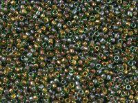 TOHO Round 15o-247 Inside-Color Peridot - Oxblood Lined - 5 g