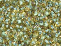 TOHO Magatama 3mm-952 Inside-Color Rainbow Lt Topaz - Sea Foam Lined - 10 g