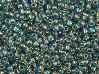 TOHO Round 8o-995 Gold-Lined Rainbow Aqua - 10 g