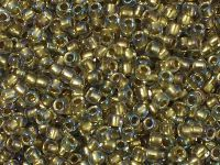 TOHO Round 8o-262 Inside-Color Crystal - Gold Lined - 10 g