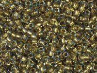 TOHO Round 8o-262 Inside-Color Crystal - Gold Lined - 10 g