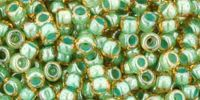 TOHO Round 8o-380 Inside-Color Topaz - Mint Julep Lined - 10 g