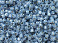TOHO Round 8o-2102 Silver-Lined Milky Montana Blue - 10 g