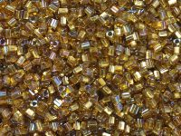 TOHO Triangle 11o-278 Gold-Lined Topaz - 10 g