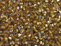 TOHO Triangle 11o-278 Gold-Lined Topaz - 10 g