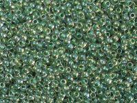 TOHO Round 11o-699 Inside-Color Rainbow Crystal - Shamrock Lined - 10 g