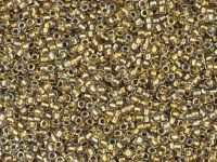 TOHO Round 15o-262 Inside-Color Crystal - Gold-Lined - 5 g