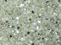 TOHO Cube 3mm-21 Silver-Lined Crystal - 10 g