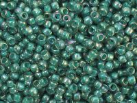 TOHO Round 8o-1833 Inside-Color Rainbow Lt Sapphire - Opaque Teal Lined - 10 g