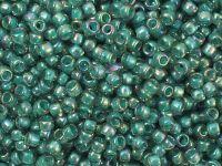 TOHO Round 8o-1833 Inside-Color Rainbow Lt Sapphire - Opaque Teal Lined - 10 g