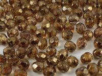 FP 4mm Luster-Transparent Gold-Smoky Topaz - 40 sztuk