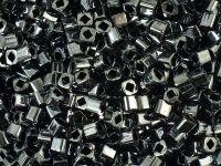 TOHO Cube 3mm-81 Metallic Hematite - 10 g