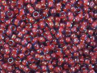 TOHO Round 8o-304 Inside-Color Lt Sapphire - Hyacinth Lined - 10 g