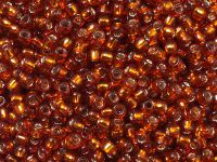 TOHO Round 8o-2208 Silver-Lined Burnt Orange - 10 g