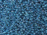 TOHO Round 11o-188 Inside-Color Luster Crystal - Capri Blue Lined - 10 g